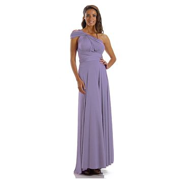 Long Lavender Convertible Jersey Dress 20 Different Looks