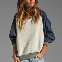 Riller & Fount Angelika Raglan Sweatshirt in Uptown/Flint from REVOLVEclothing.com