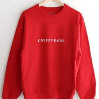 California Oversized Sweatshirt - Red