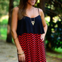 Live For Today Dress, Red/Black