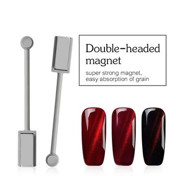 Ellwings 3D DIY Double-headed Magnet Manicure Tool for Cat Eye UV Nail Polish Strong Magnetic Gel Varnish Nail Design