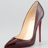 Christian Louboutin - So Kate Patent Leather Point-Toe Pump, Rouge Noir
