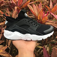 Sale Nike Air Huarache 4 Rainbow Ultra Breathe Men Women Hurache Black/White Running Sport Casual Shoes Sneakers - 116-1