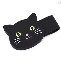 JetPens.com - Lihit Lab Smart Fit PuniLabo Magnetic Clip - Black Cat