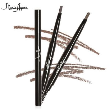 Professional Double-end Brows Pencils Waterproof Automatic Eyebrow Pencils with Brush Black Brown Color Eye Brow Pen Cosmetics