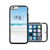 RCGrafix Brand Paradise Beach Hipster Quote iPhone 6 Case - Fits NEW Apple iPhone 6