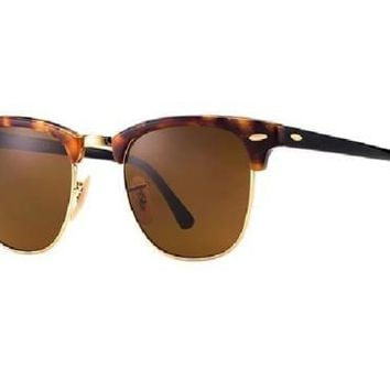 New & Authentic Ray-Ban Sunglasses RB 3016 1160 49mm Brown Havana Clubmasters
