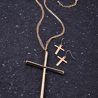 Cross Statement Necklace
