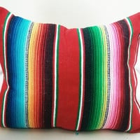 mexican blanket pillow
