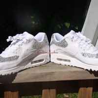 Custom Bling White Nike Air Max 90