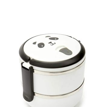 Panda Face Graphic Lunch Box