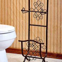 Scrolled Metal Bathroom Organizers