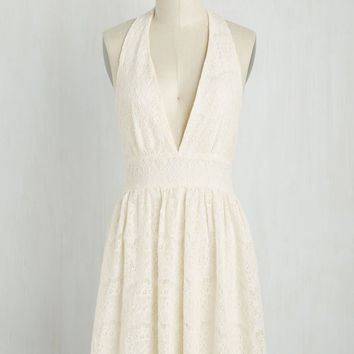 All Inspiring Dress in Ivory | Mod Retro Vintage Dresses | ModCloth.com