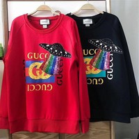 GUCCI HOT SALE Round neck letters printed loose long sleeve sweater Day-First™