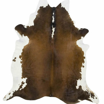 Black, Brown, and White Brazilian Cowhide Rug