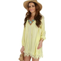 Yellow Sunrise To Sunset Tunic