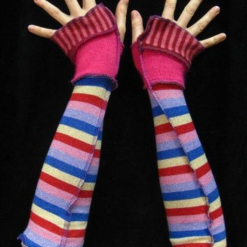 ArM WaRmErS Recycled rainbow power cuffs made from by katwise