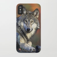 Wolf iPhone Case by Knm Designs