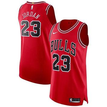 Michael Jordan Chicago Bulls # 23 Nike Red Authentic Jersey