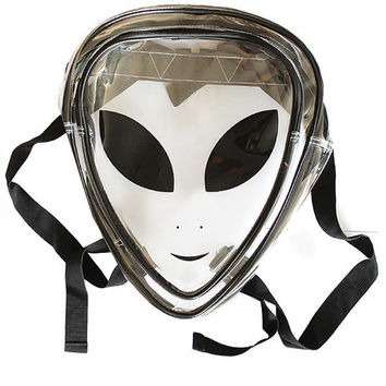 90s Alien clear backpack PVC jelly plastic school bag