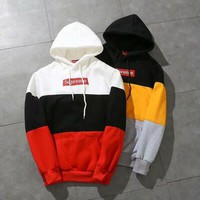 PEAPGZ9 Supreme Hot Patchwork Unisex Hoodies [105072885772]