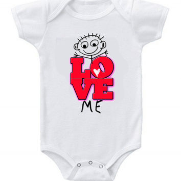 NEW Cute Funny Love Me Baby Bodysuits One Piece Great Gifts #2