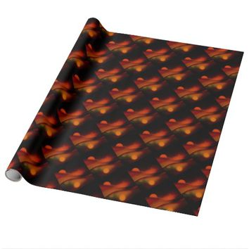 Fire Wave Wrapping Paper