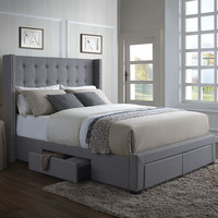 DG Casa Savoy Storage Wingback Panel Bed | Wayfair