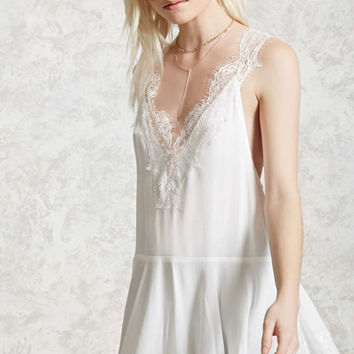 Crepe Eyelash Lace Tunic