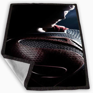 Man Of Steel Superman Blanket for Kids Blanket, Fleece Blanket Cute and Awesome Blanket for your bedding, Blanket fleece **