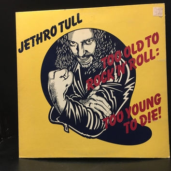 5 DAY SALE (Ends Soon) Vintage 1976 Jethro Tull Too Old To Rock and Roll Vinyl Record Good Condition