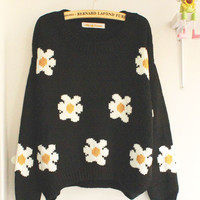 Cute little daisy short sweater