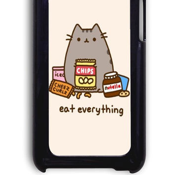 IPod 4 Case - Hard (PC) Cover with Pusheen The Cat Perfect Plastic Case Design