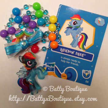 Rainbow Dash  My Little Pony Necklace  Crystal by BattyxBoutique