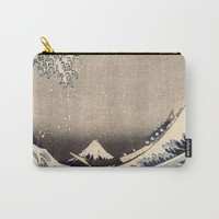 Hokusai the wave 1-hokusai,manga,fugi,japan,kanagawa,wave,edo,mount fuji Carry-All Pouch by oldking