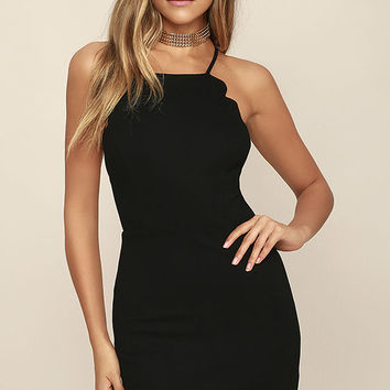 Heart's Content Black Bodycon Dress