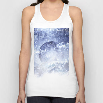 Even mountains get cold Unisex Tank Top by HappyMelvin