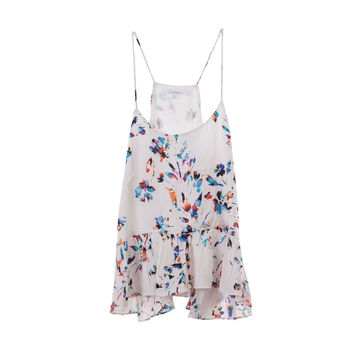 Olivaceous Womens Floral Tank