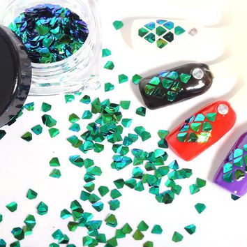 Sparkly Flakes Glitter Nails Decorations Acrylic Glitter Nail Powder Nail Art Tips 3 Colors Shiny Glitter