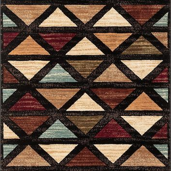 7026 Multi-Color Abstract Contemporary Area Rugs