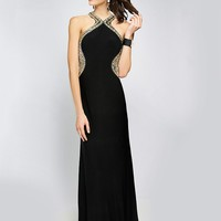 JVN by Jovani JVN98601 Fitted Jersey Gown