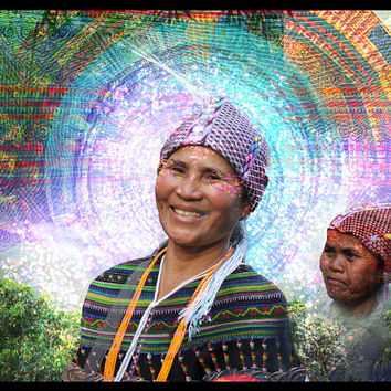 Hmong - Canvas Print, Visionary Art, Psychedelic Art Print, Digital Painting.