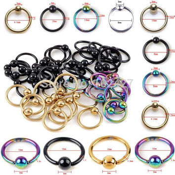 Captive Bead Ring Ball Hoop Body Piercing