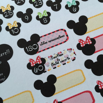 Disney Countdown Life Planner Stickers