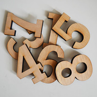 Vintage WOODEN numbers vintage hotel and home decor