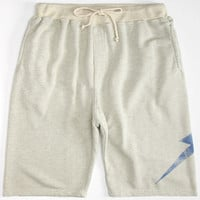 Lightning Bolt Big Bolt Mens Sweat Shorts Off White  In Sizes