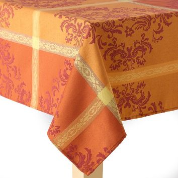 Harvest Woven Medallion Tablecloth - 60'' x 84'' Oval