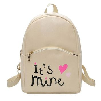 Rucksack Mochilas Preppy Style Female Leather Backpack