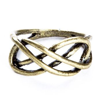 Brandy ♥ Melville    Brass Infinity Ring - Accessories
