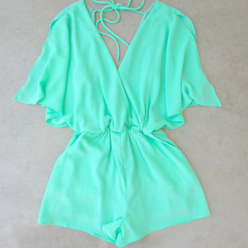 Pacific Coast Romper in Sea [7138] - $28.80 : Feminine, Bohemian, & Vintage Inspired Clothing at Affordable Prices, deloom